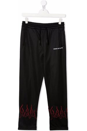 Vision Of Super TEEN flame-trim straight joggers