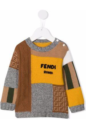 Fendi Patchwork-design jumper