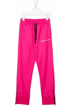 Vision Of Super Flame-trim straight joggers