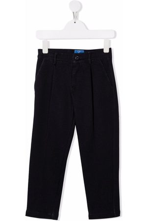 FAY KIDS Invert-pleat straight-leg trousers