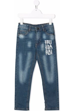 Trussardi Boys Straight - Mid-rise straight-leg jeans
