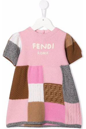 Fendi Baby Casual Dresses - Patchwork-design dress