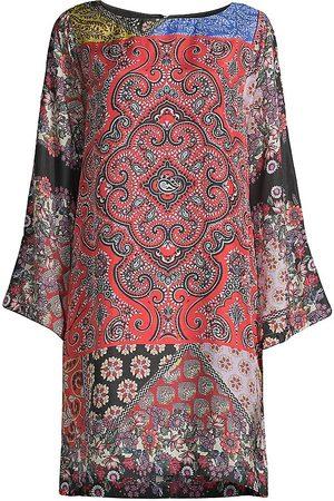 JOHNNY WAS Moa Kabelo Silk Tunic Dress