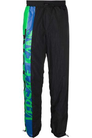 VERSACE Logo-print drawstring-waist track trousers