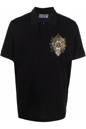 VERSACE Men Polo Shirts - Logo print polo shirt