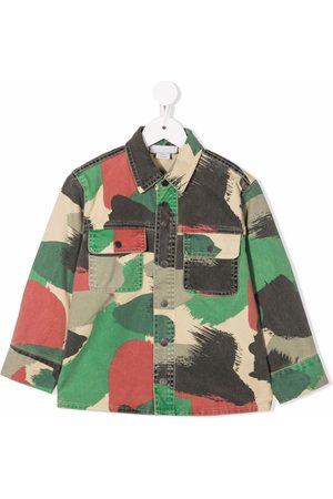Stella McCartney Boys Shirts - Camouflage-print shirt