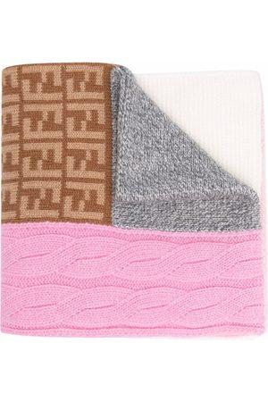 Fendi Girls Scarves - Patchwork-design scarf