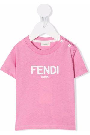 Fendi Kids Logo-print cotton T-shirt