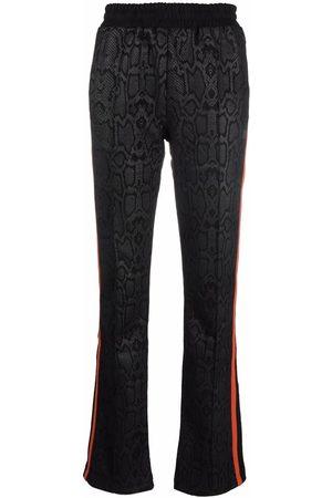 Fila Snakeskin-print straight-leg trousers