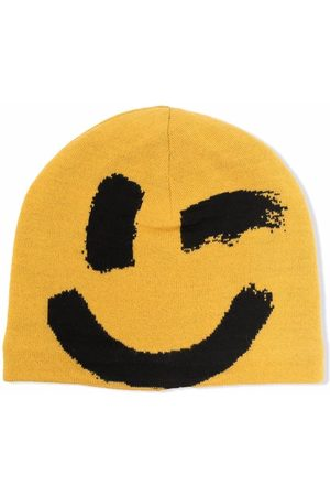 Molo Kids Smiley-face knitted beanie