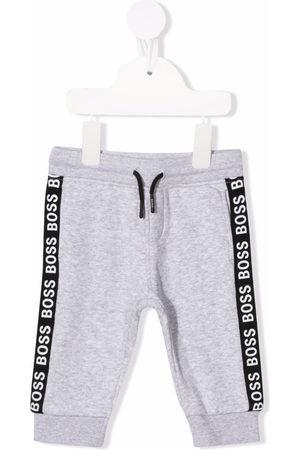 BOSS Kidswear Logo stripe trousers - Grey