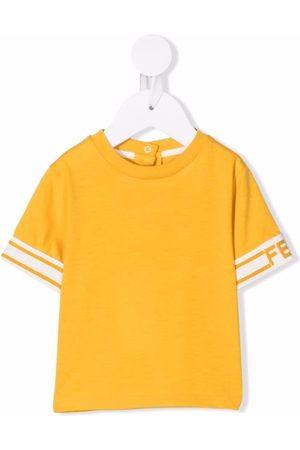 Fendi Kids T-shirts - Logo-trim T-shirt