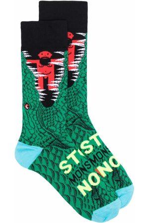 WALTER VAN BEIRENDONCK Socks - Graphic-print calf socks
