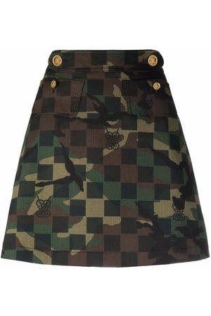 Giambattista Valli Camouflage-print A-line skirt