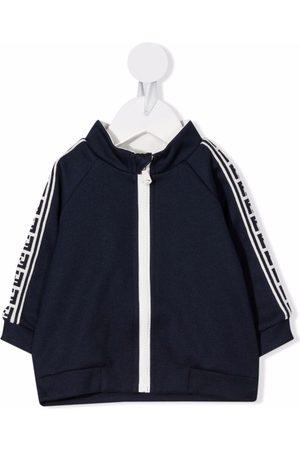 Fendi Kids Logo-tape zipped jacket