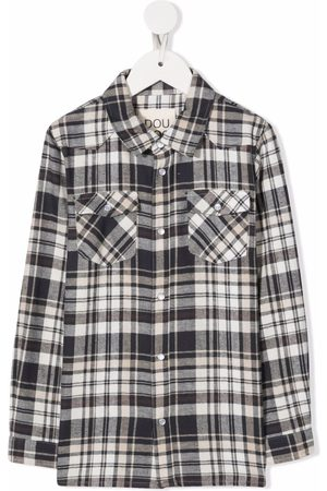 Douuod Kids Plaid-check print shirt - Neutrals