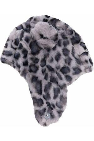 Molo Leopard print faux-fur hat - Grey