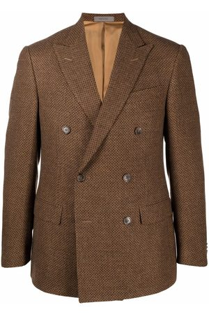 Corneliani Geometric-pattern double-breasted blazer