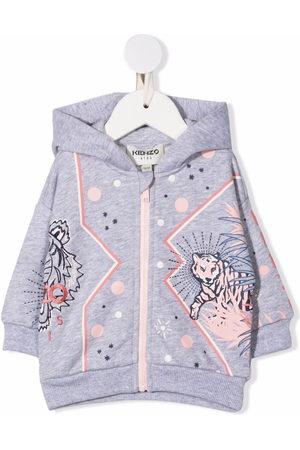Kenzo Kids Logo zippd hoodie - Grey