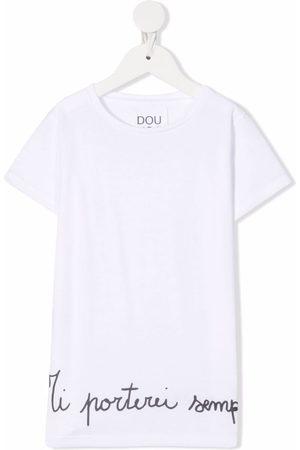 Douuod Kids Logo-print short-sleeved T-shirt