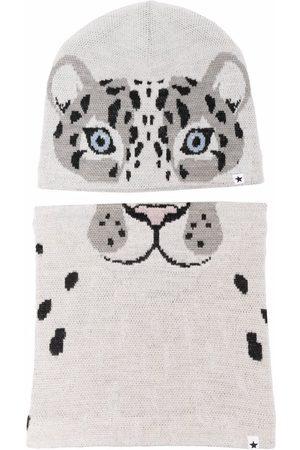 Molo Tiger wool-blend knit hat - Grey