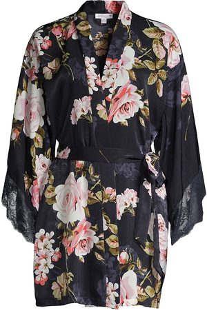 In Bloom Floral Wrap Short Robe