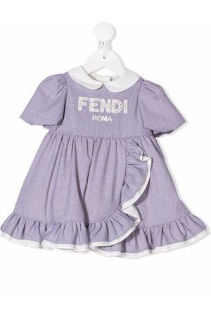 Fendi Logo part dress - Grey