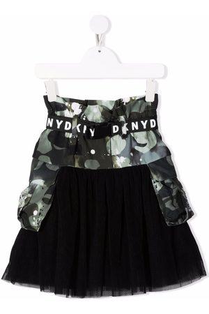 DKNY Girls Printed Skirts - Camo print tulle skirt
