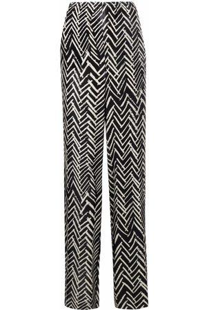 Emporio Armani Zig-zag print trousers