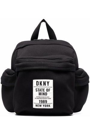 DKNY Logo patch multi-pocket backpack
