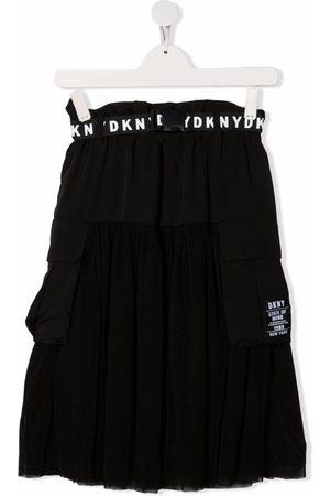 DKNY TEEN logo-print belt skirt