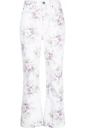 Ganni Betzy floral-print flared jeans