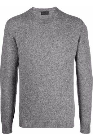 Roberto Collina Ribbed-knit crew neck sweater - Grey