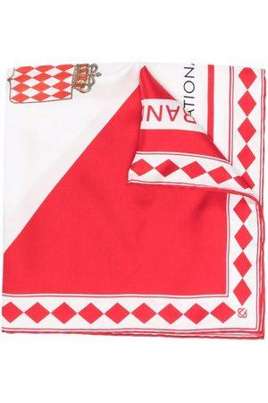 Casablanca Graphic-print silk scarf