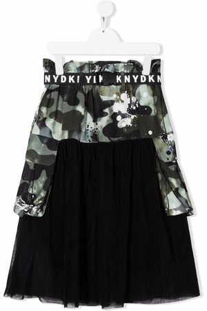 Dkny Kids TEEN camouflage print tulle skirt