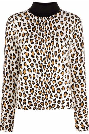 Twin-Set Leopard-print roll-neck jumper - Neutrals