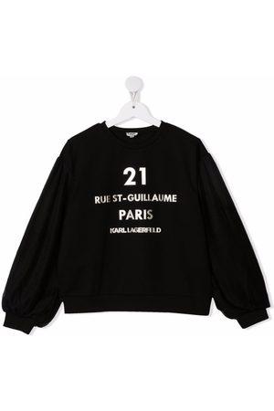 Karl Lagerfeld Kids TEEN Rue St-Guillaume logo sweatshirt