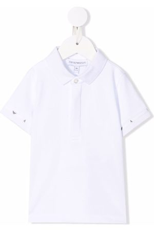 Emporio Armani Kids Logo-sleeve polo shirt
