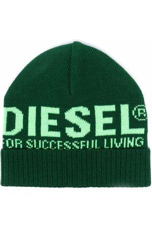 Diesel Logo knit beanie