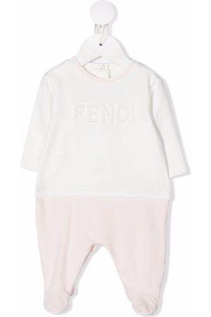 Fendi Embossed logo romper