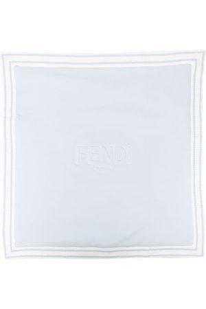 Fendi Contrasting-trim cotton blanket
