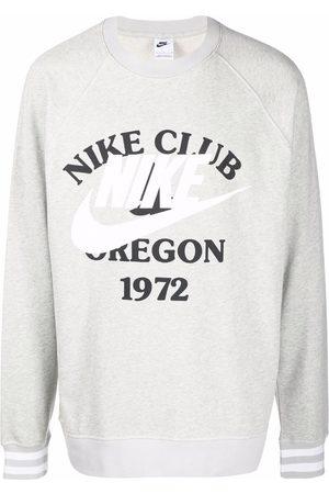 Nike Swoosh-print cotton sweatshirt - Grey