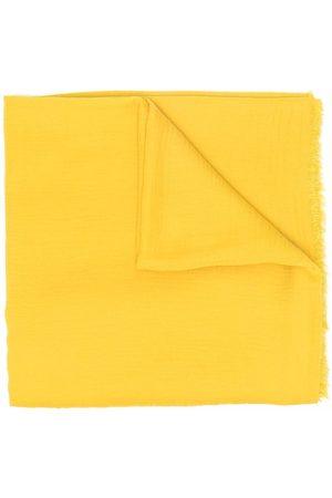 Faliero Sarti Fine-knit frayed-edge scarf