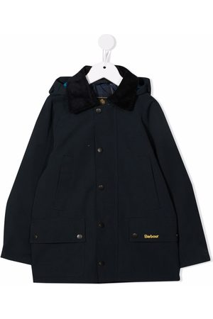 Barbour Kids Hooded button-down coat