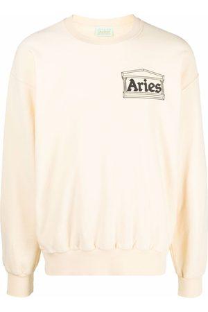 Aries Chest-logo crewneck sweatshirt