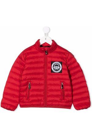 John Richmond Junior Rainbow logo padded jacket