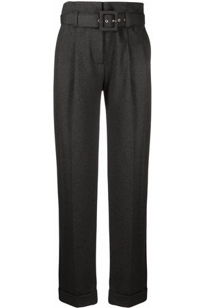 Victoria Victoria Beckham Straight-leg belted trousers - Grey