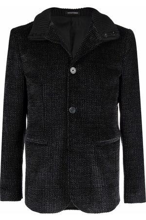 Emporio Armani Corduroy button-fastening jacket - Grey