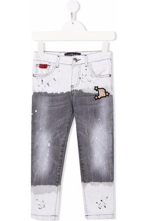 John Richmond Junior Painted effect jeans - Grey