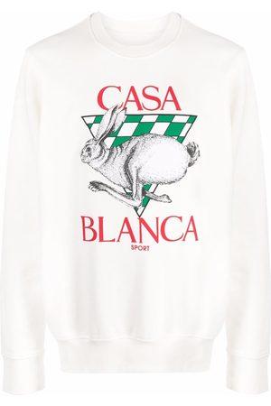 Casablanca Logo-print organic cotton sweatshirt